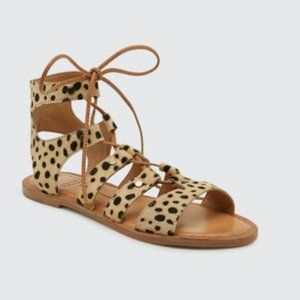 Dolce Vita Jasymn Leopard Calf Hair Sandals 9